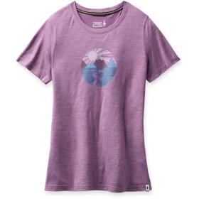 Smartwool Merino Sport 150 Skjorte Sunset Stream Grafik Damer, violet